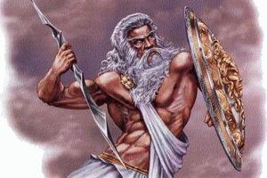 Зевс - бог грома и молний.